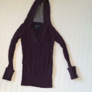 American Eagle Cable Knit Sweater Hoodie